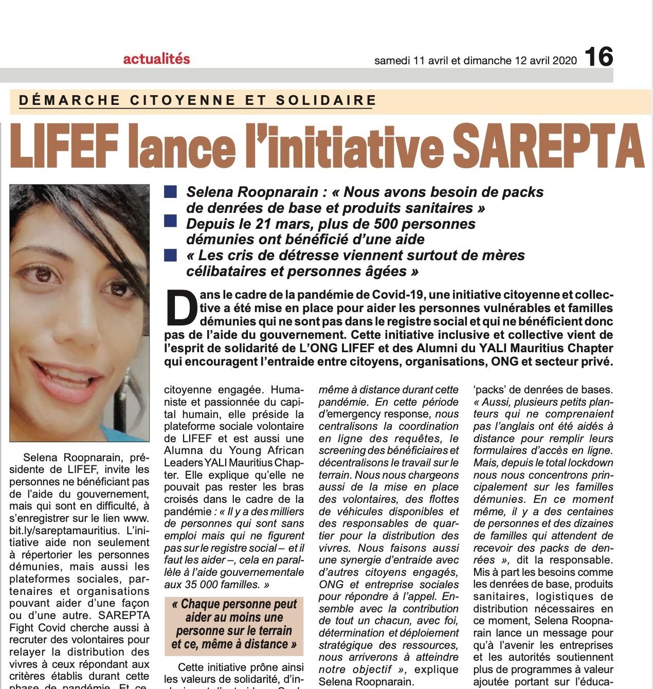 article week-end sarepta